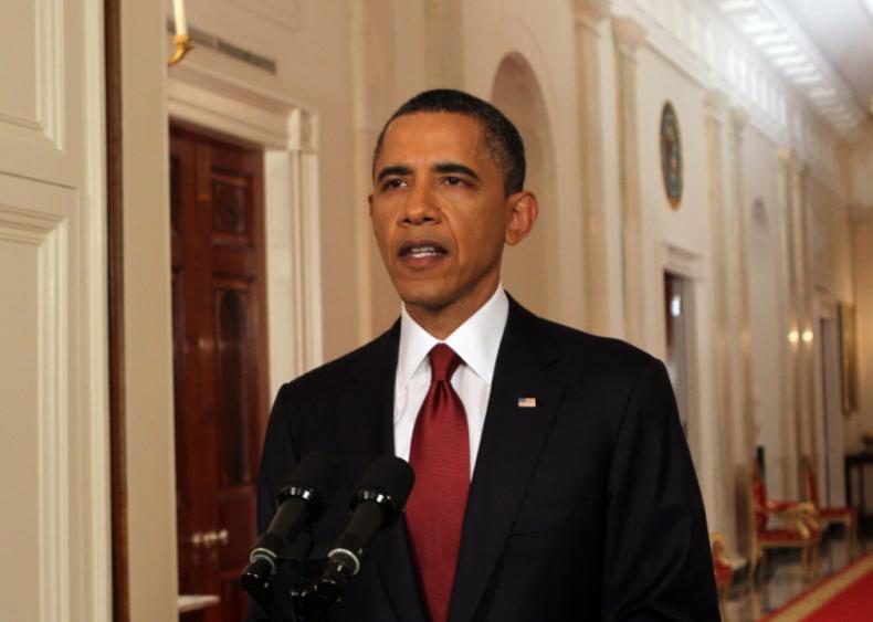 Barack Obama announces the death of Osama bin Laden
