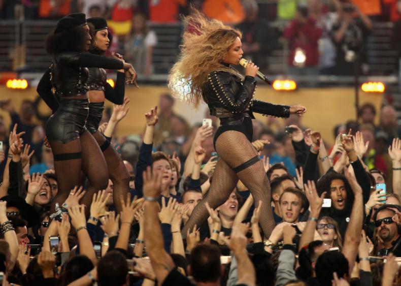 Beyonce performs at Super Bowl halftime