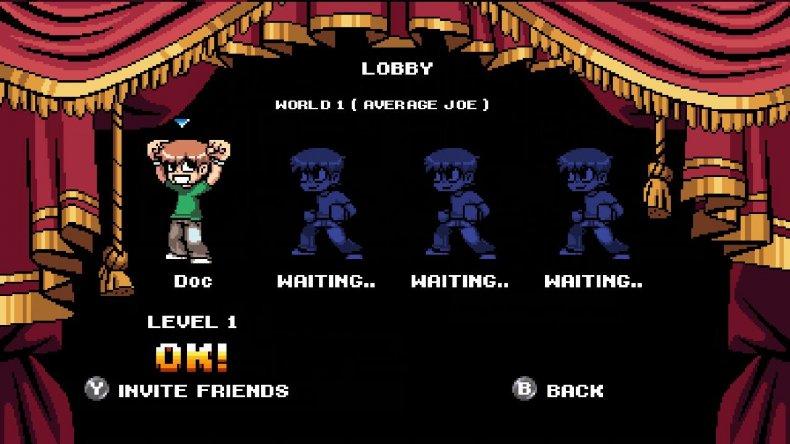 scott pilgrim game online lobby