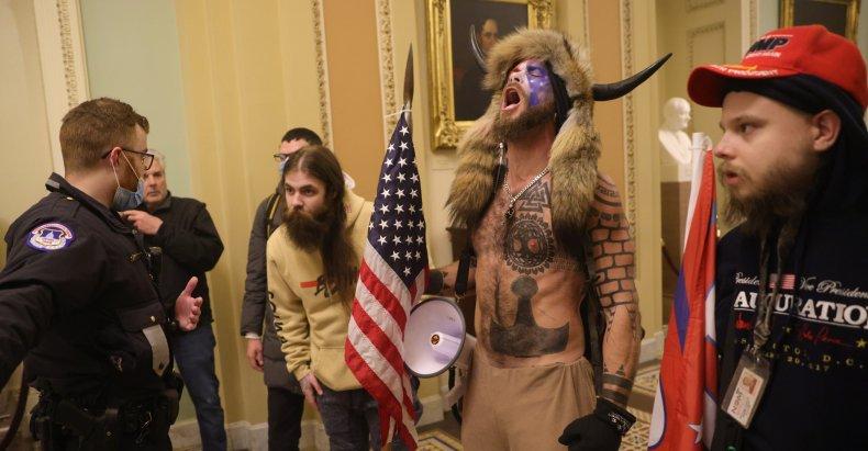 Jake Angeli QAnon Shaman Capitol Protest