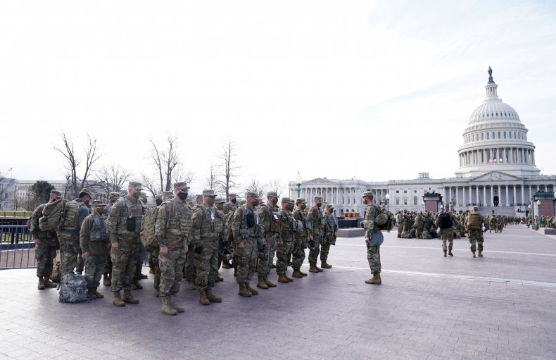 National Guard assembles outside Capitol