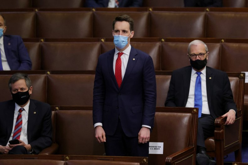 Josh Hawley in Congress after Capitol Riot