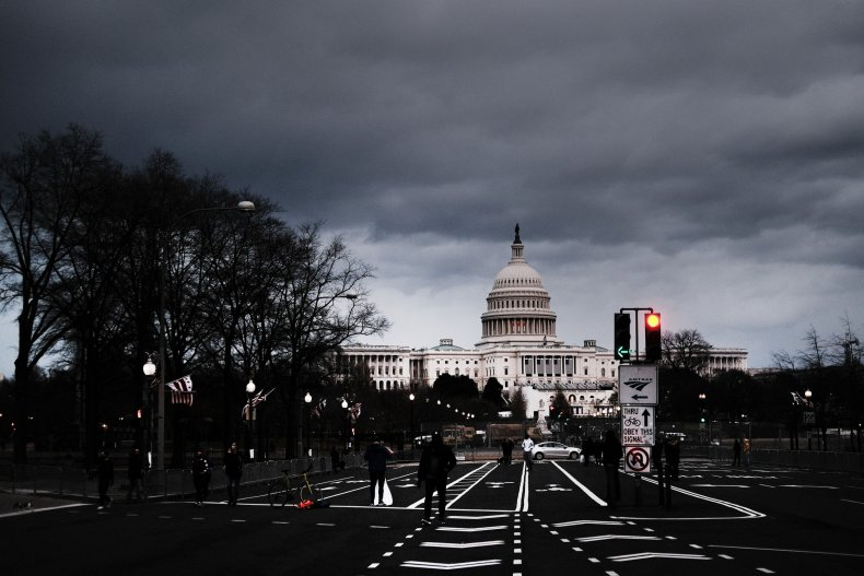 Picture of U.S. Capitol following pro-Trump riot