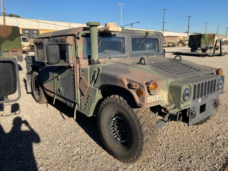 FBI searching for stolen Humvee