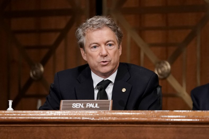 Sen. Rand Paul asks questions during hearing