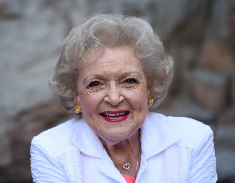 Actress Betty White in Los Angeles