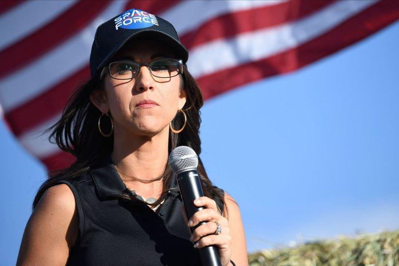 Lauren Boebert at Colorado rally