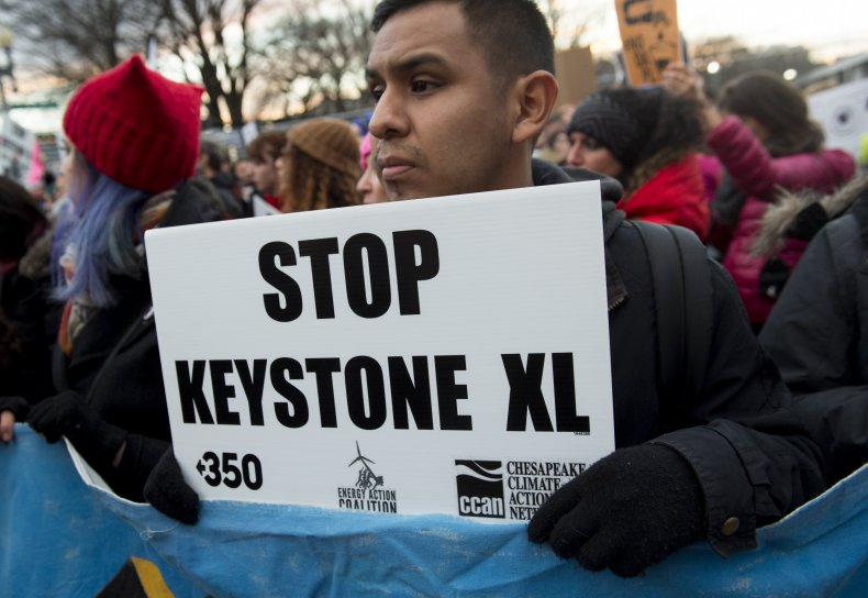 Keystone XL oil pipeline protesters Washington DC