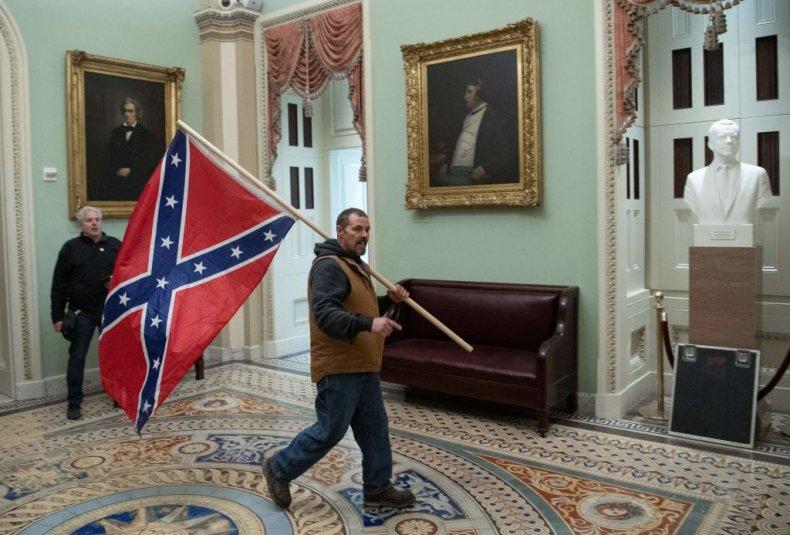 Confederate flag in U.S. Capitol