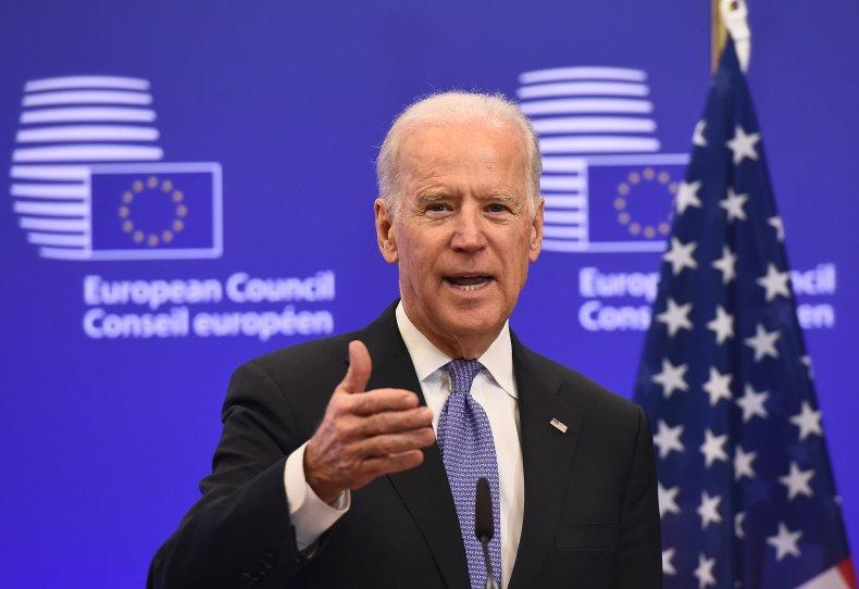 Joe Biden speaks at EU HQ Brussels