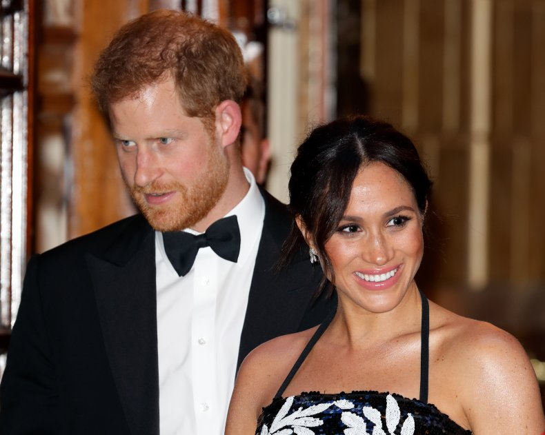 Meghan Markle, Prince Harry at Royal Variety