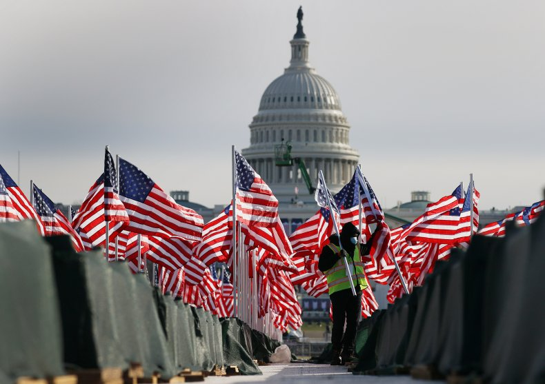U.S. Capitol prepared for Joe Biden's inauguration