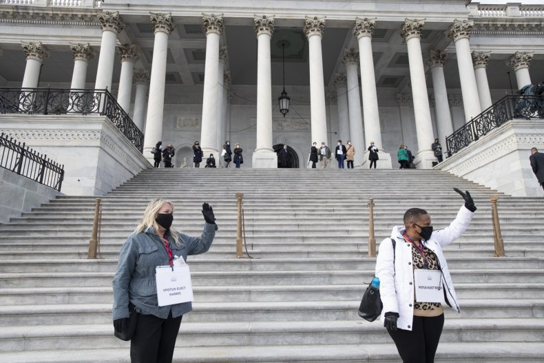 U.S. Capitol Washington, D.C. Inauguration rehearsal 2021