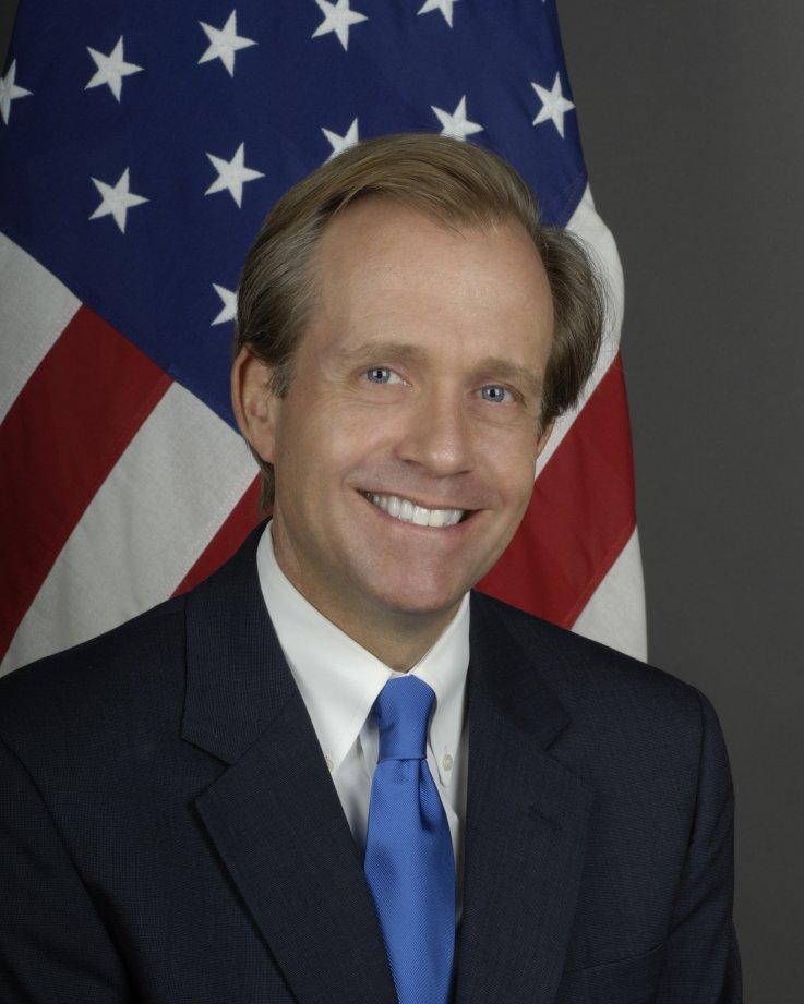 Former U.S. ambassador Lewis Lukens
