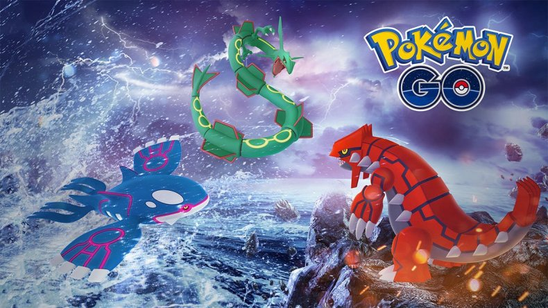 pokemon go kyogre groudon rayquaza raids