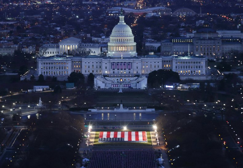U.S. Capitol Joe Biden inauguration preparation 2021