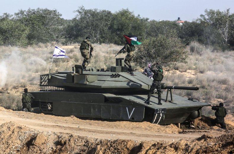 palestinian, military, israel, tank, exercises