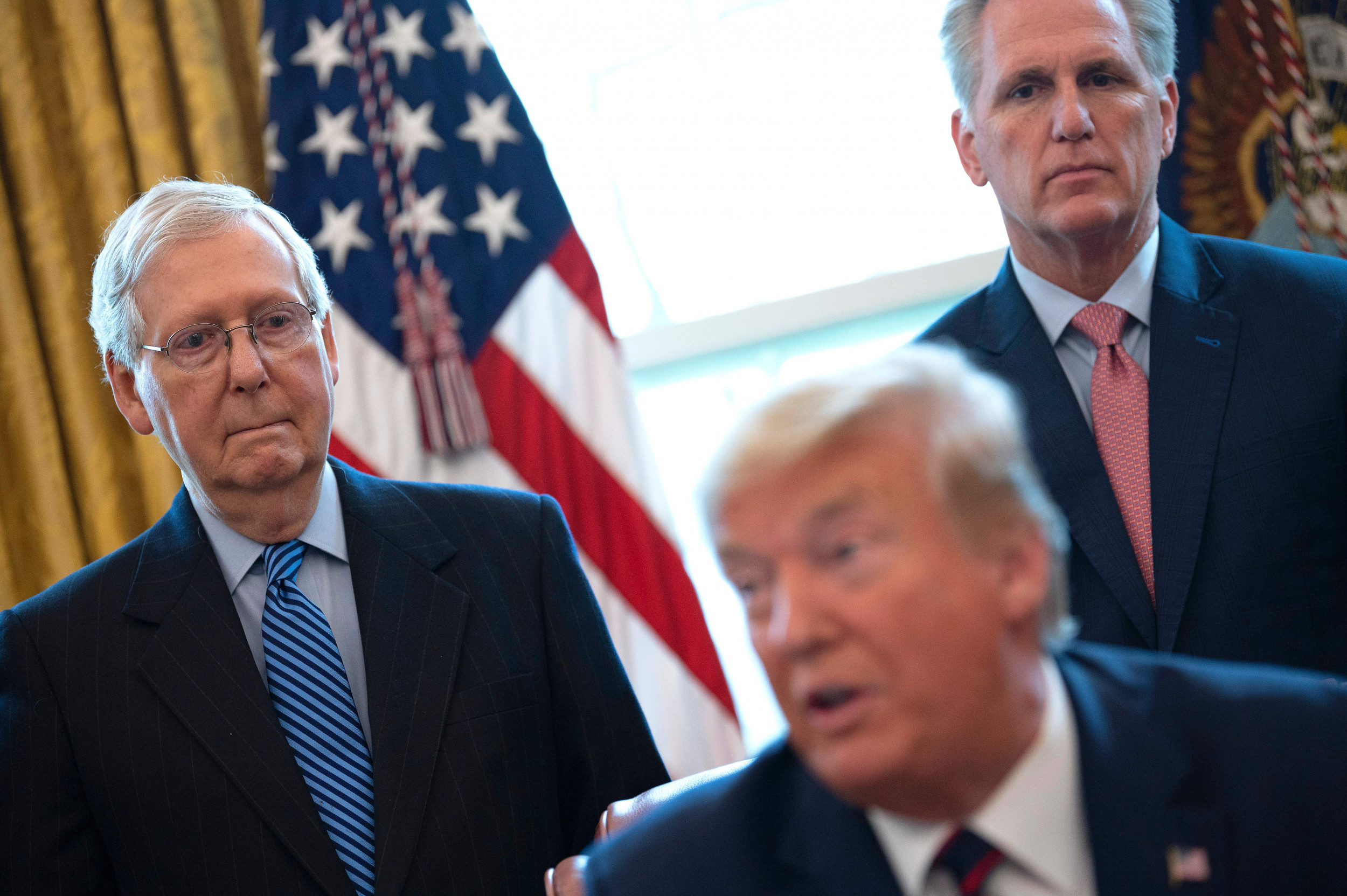GOP leaders skip Trump farewell after McConnell blames him for Capitol riot