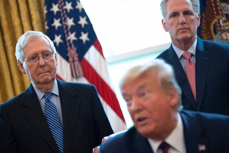 Trump McCarthy McConnell Biden Inauguration Farewell