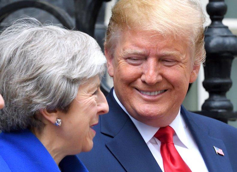 Theresa May and Donald Trump London 2019