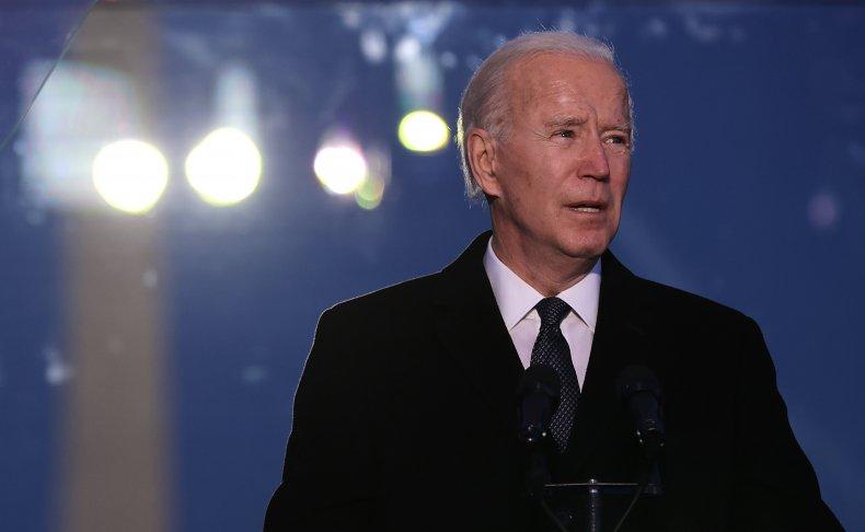 Biden Delivers Remarks During a Memorial Service