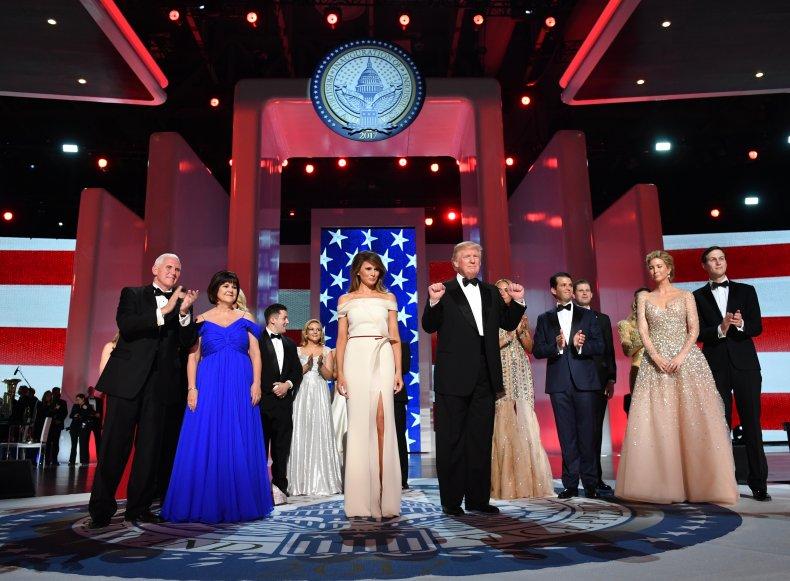 Donald Trump and family inaugural ball 2017