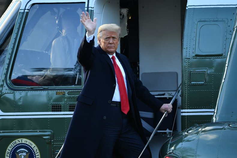 Donald Trump departs the White House