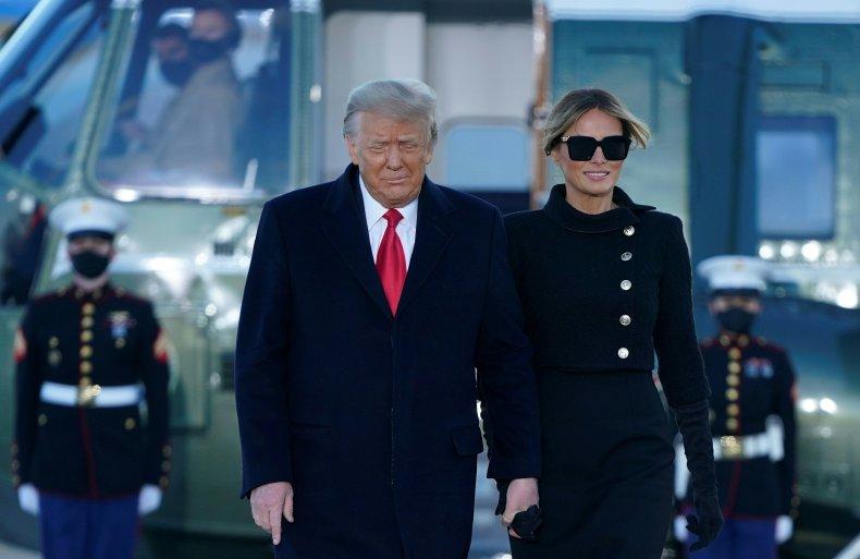 Trump departure