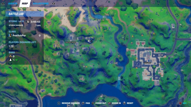 fortnite predator apartment location map