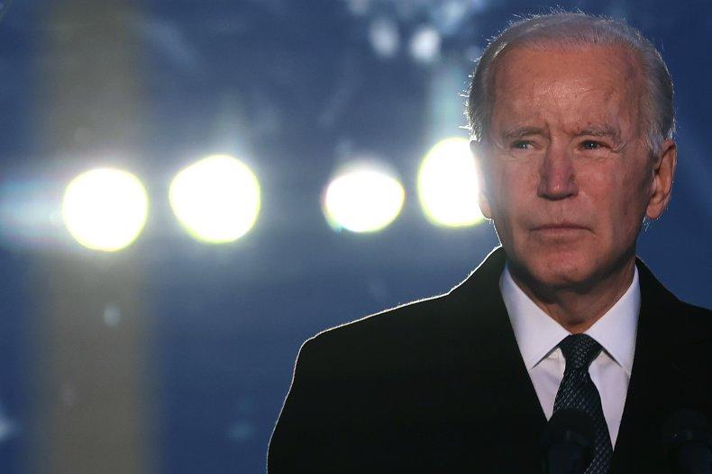 Joe Biden at a COVID-19 Memorial Service