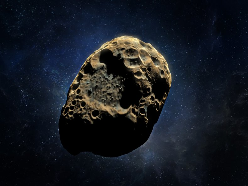 Artist's rendering of an asteroid