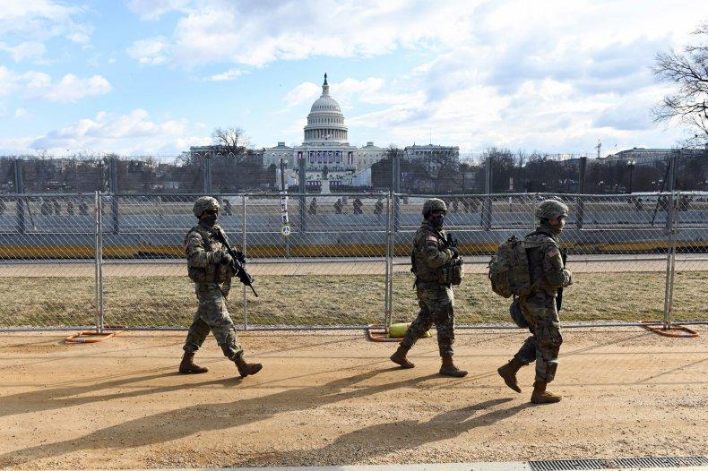 National Guard troops patrol Capitol