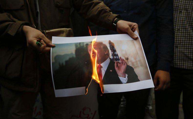 iran, nuclear, deal, trump, protest