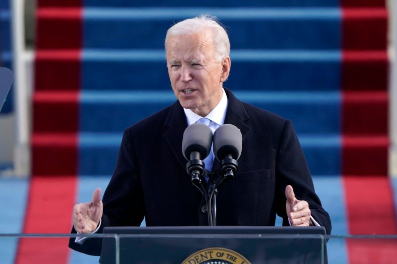 Biden Inauguration speech Newsmax dark divisive criticism