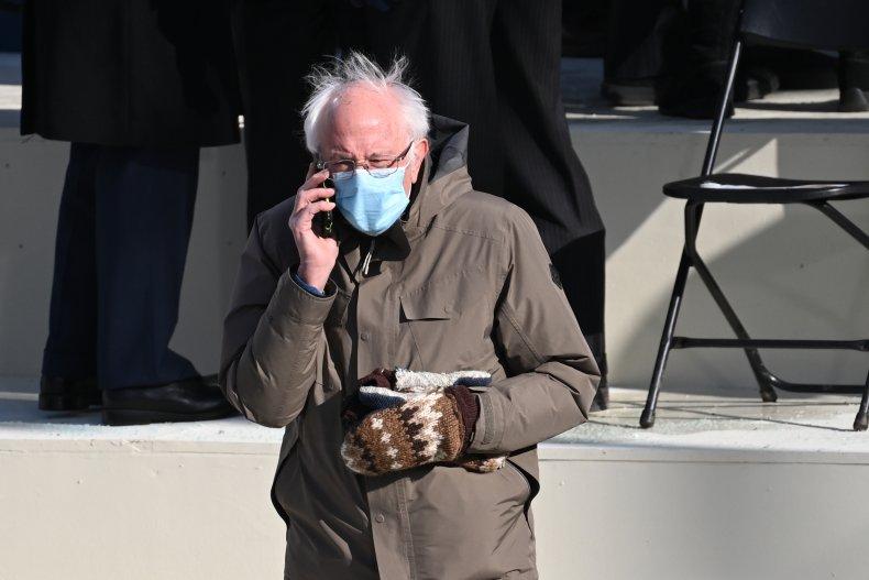 Bernie Sanders Mittens Biden Inauguration