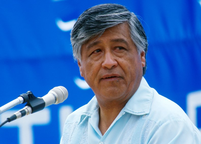 Cesar Chavez farm labor leader 1988