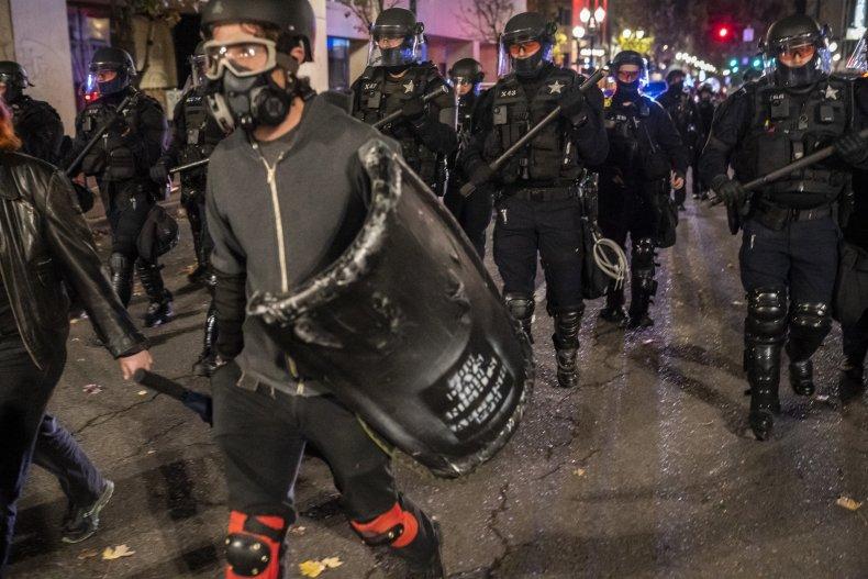 Portland police disperse protesters