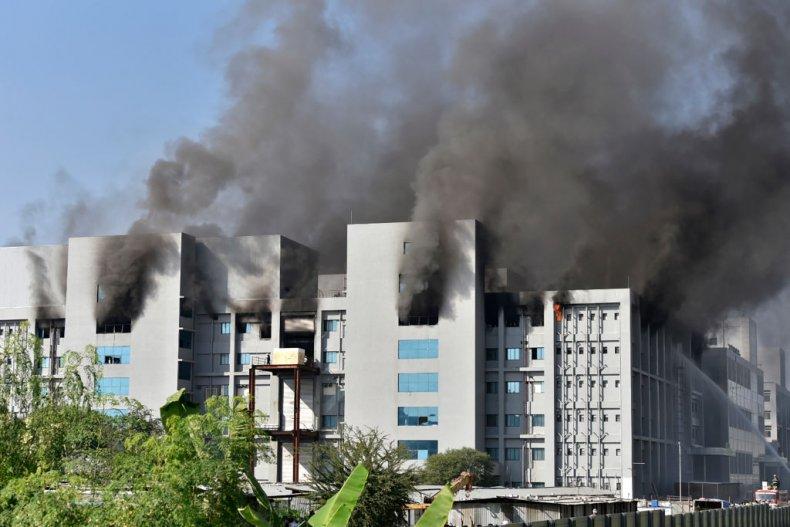 Fire at India's Serum Institute in Pune