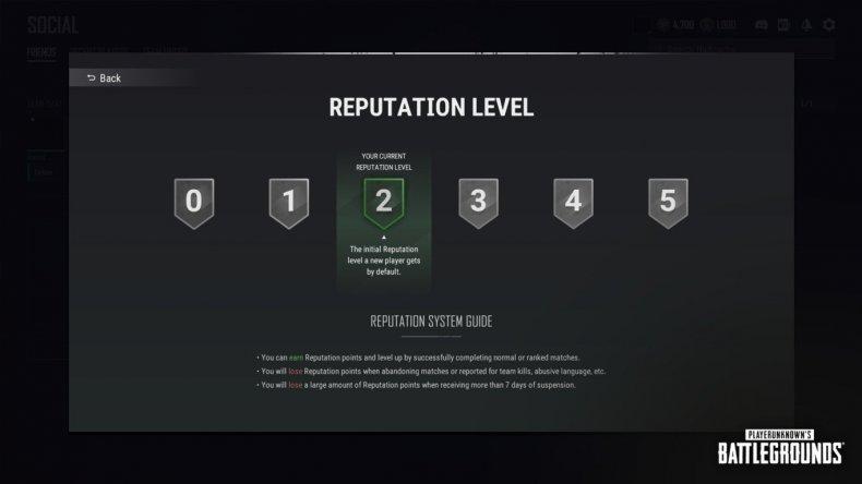 pubg update 160 reputation