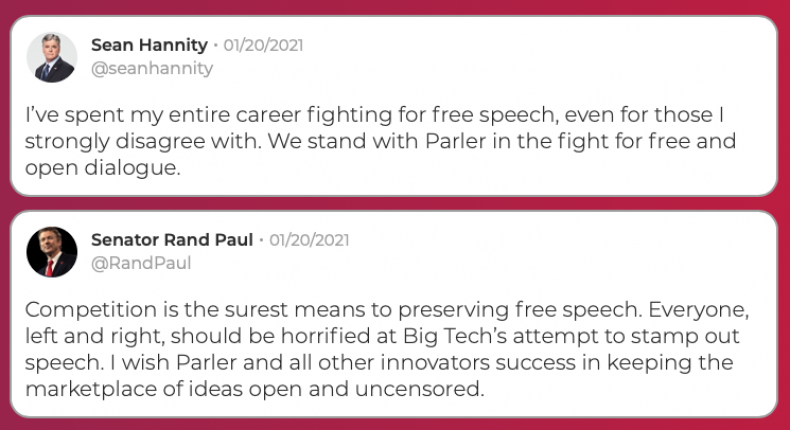 Parler Hannity and Rand Paul
