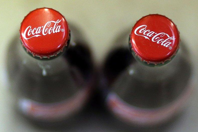 Bottles of Coca Cola