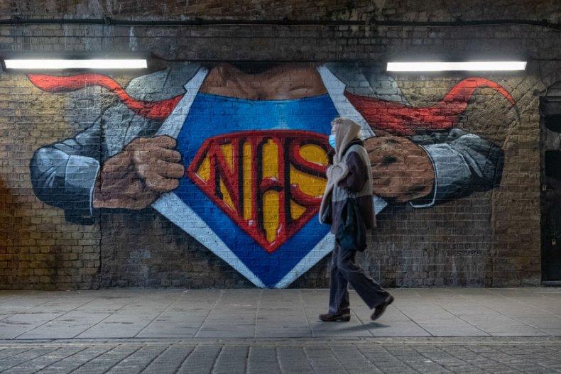 NHS mural in London, UK, during COVID