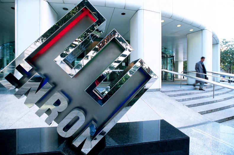 Enron logo and HQ