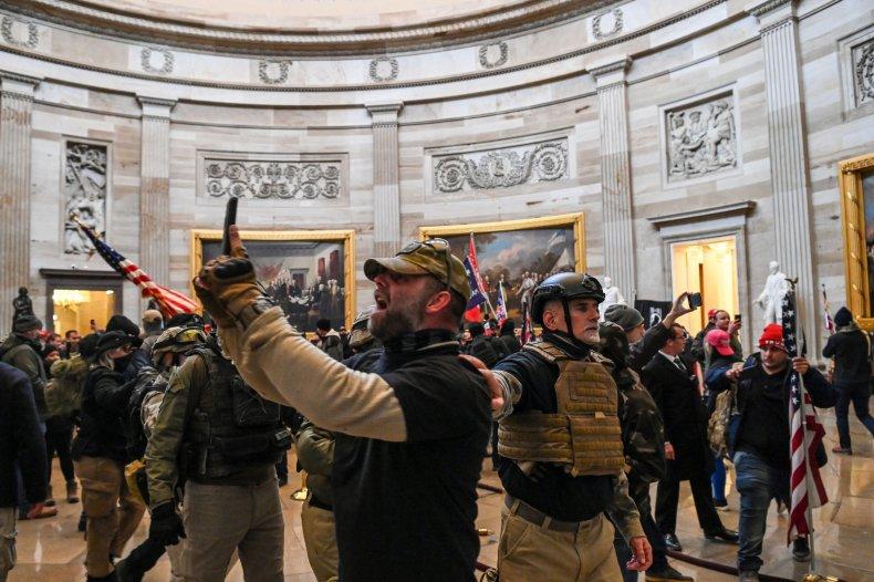 William McCall Calhoun Pelosi door threats Capitol