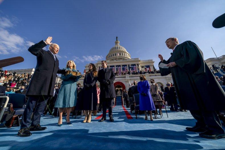 Joe Biden was sworn in as the