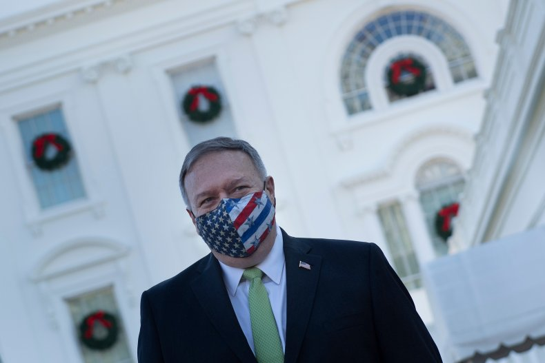 Mike Pompeo pictured at White House December