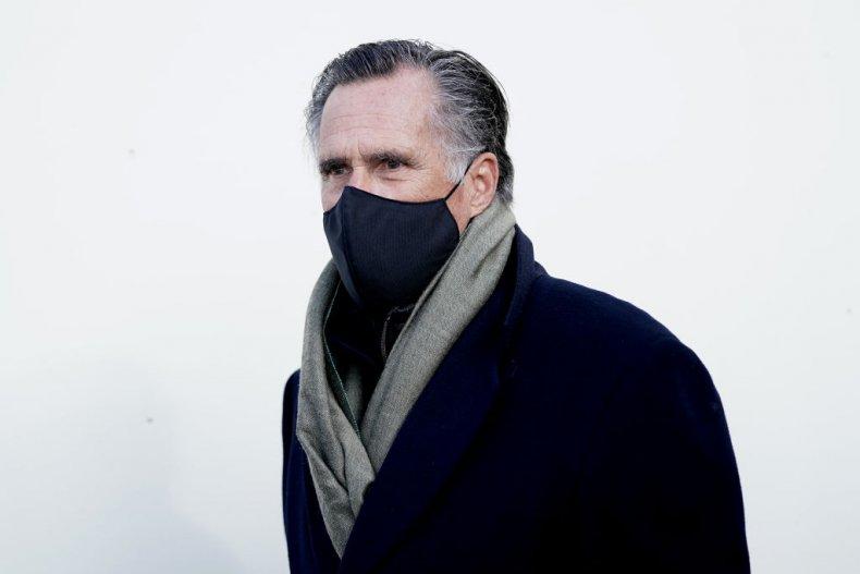 Senator Mitt Romney at Biden Inauguration
