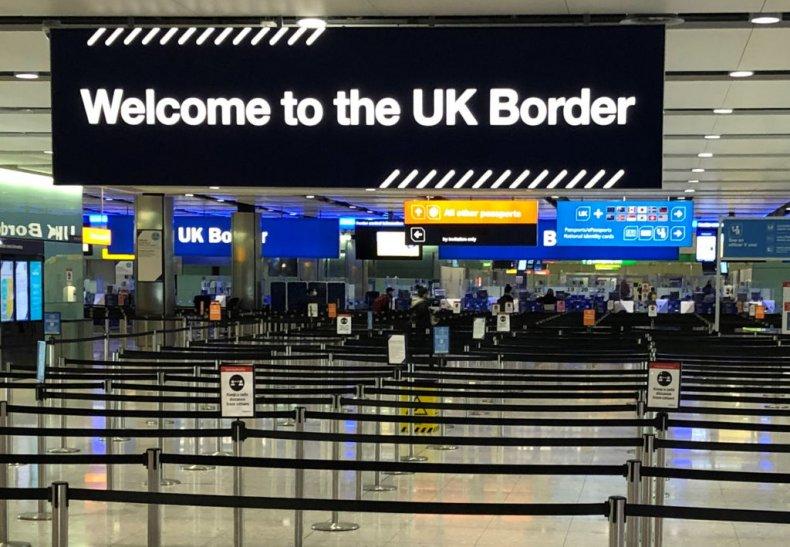 UK border at Heathrow Airport, London