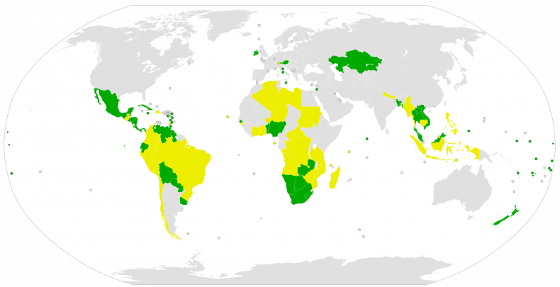 treaty, prohibition, nuclear, weapons, map