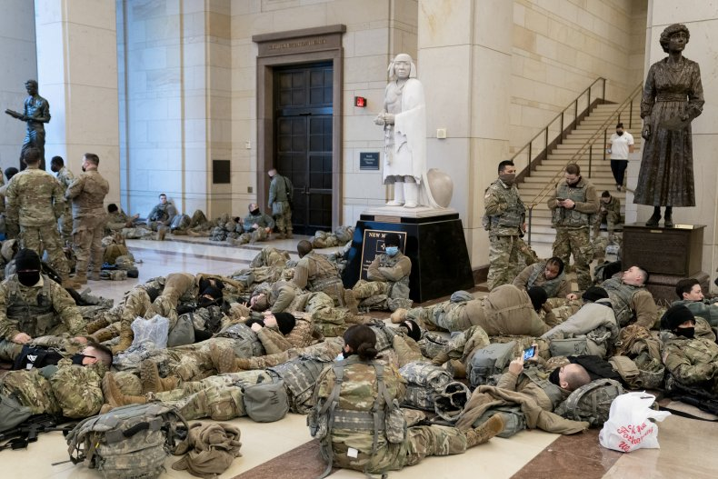 National Guard hundreds infected COVID-19 coronavirus capitol